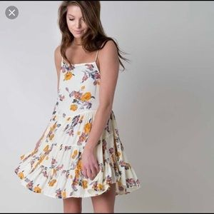 Free People intimately yellow floral circle dress